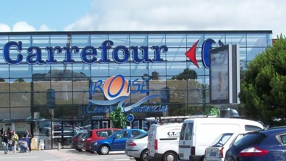 Supermarché Carrefour vue de l'extérieur