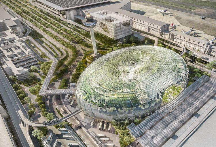 Jewel Chanfi aéroport, Singapour- Architecte : Moshe Safdie