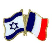 Pins drapeaux français israélien