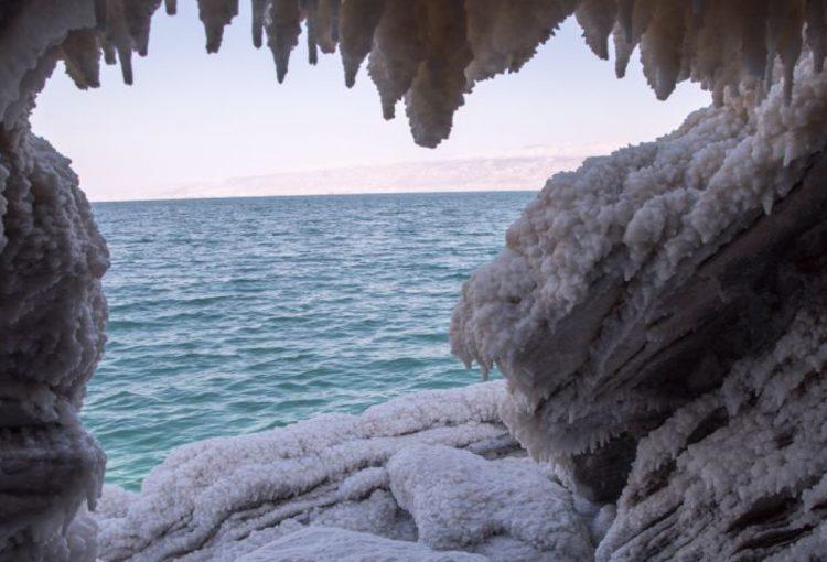 Grottes de sel Malham en Israël, près de la mer Morte