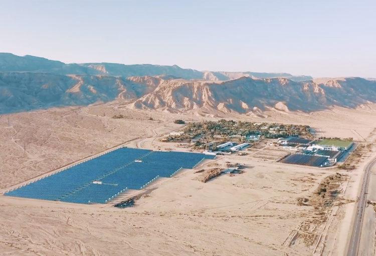 Algatech dnas le désert d'Arava, Israël