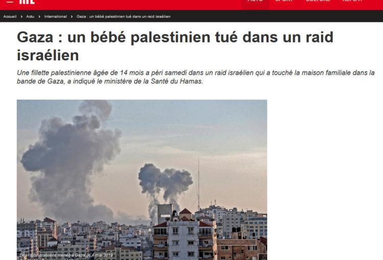 Copie d'écran du sit RTL.fr