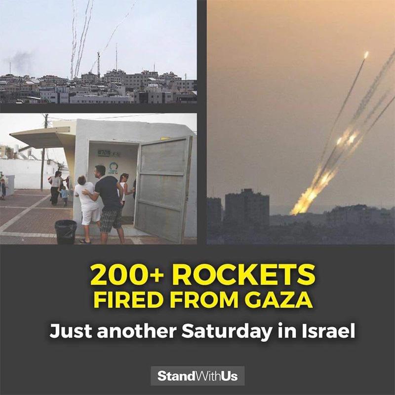 Roquettes tirées sur le sud d'Israël depuis la bande de Gaza, 4 mai 2019