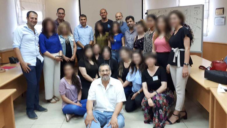 Une délégation de Yézidis et de chrétiens, survivants de Daesh, lors d'une formation sur les traitements post-traumatiques à l'Université Bar-Ilan, Israël