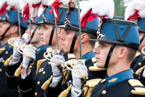 Elèves officiers de l'école Saint-Cyr Coëtquidan