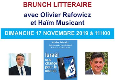 Olivier Rafowicz Haïm Musicant conférence Israël une chance pour le monde