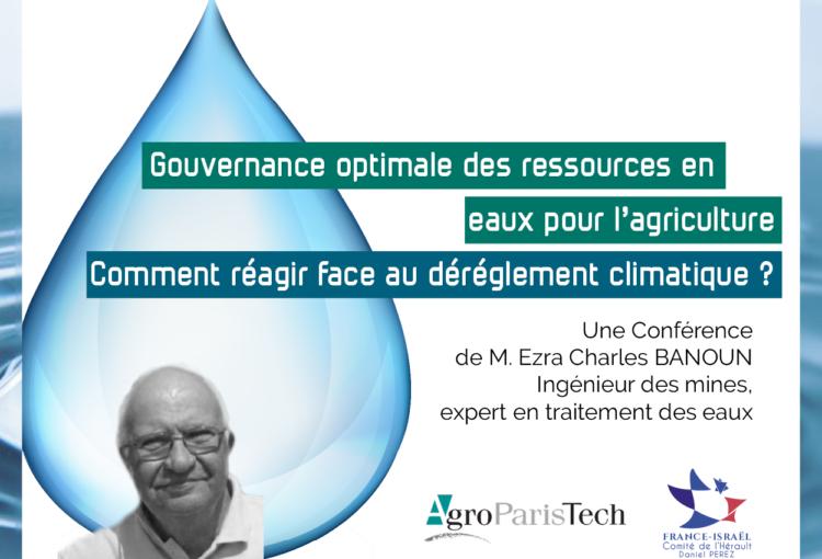 Conférence Ezra Banoun sur le dérèglement climatique et l'agriculture