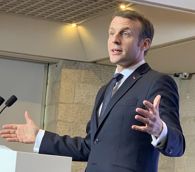 Emmanuel Macron en Israël, janvier 2020
