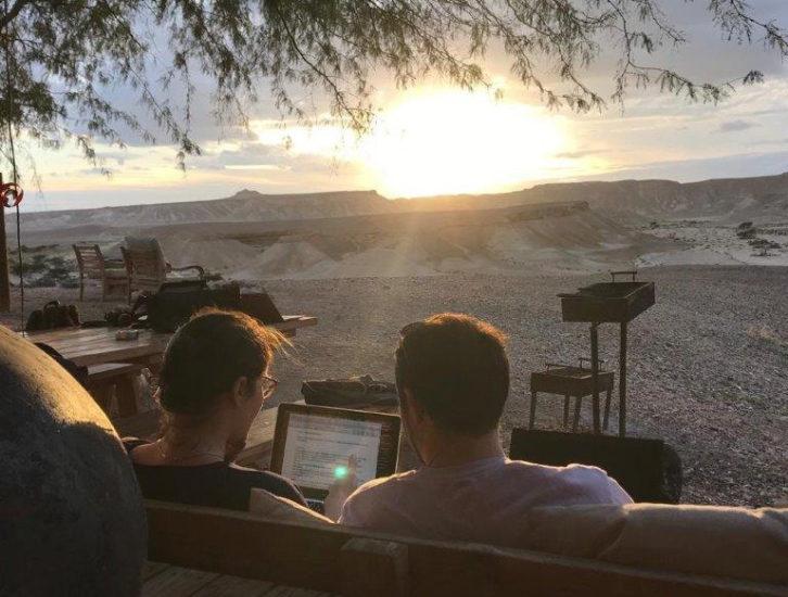 Des scénaristes français et israéliens en co-écriture dans le désert