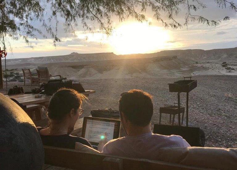 Résidence d'écriture scénaristique franco-israélienne dans le désert de l'Arava Israël-decembre 2019-credit GMFF