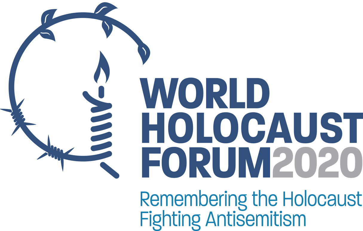 Affiche du 5eme Forum International sur l'Holocauste, janvier 2020