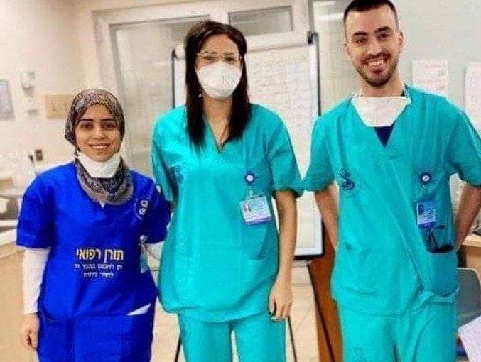 Dr Hussein, Dr Suad Haj Yahya et Dr Amana Jabarin, trois médevins arabes de l'hôpital Tel Hashomer près de Tel-Aviv