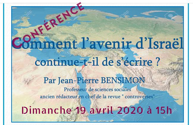Conférence Dijon Comment l'avenir d'Israël s'écrit-il