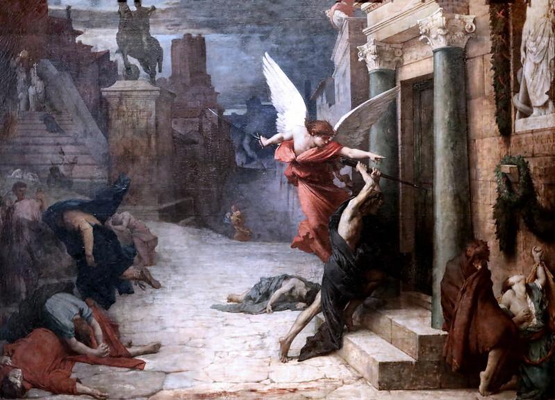 Peinture Elie Delaunay Peste à Rome 1869 Paris Orsay.jpg