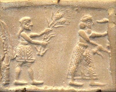 Stèle d'Uruk en Mésopotamie