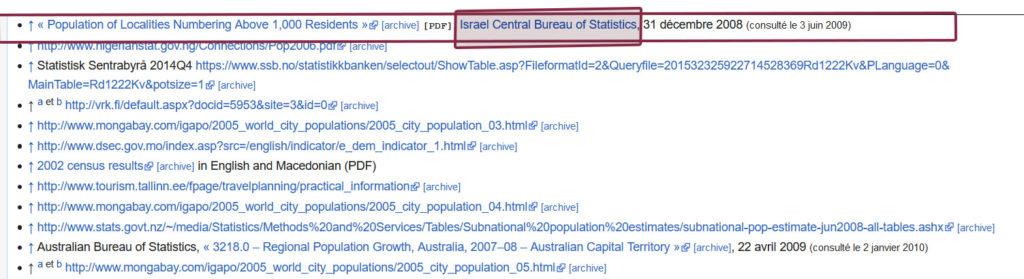 """Extrait de la fiche Wikipedia """"Liste des capitales par population"""". Non modification de la note """"48"""" le 3 avril 2020. Capture d'écran Wikipedia."""