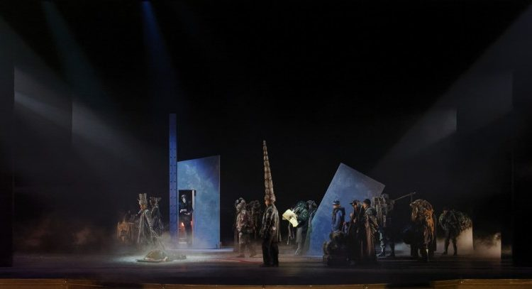 """Tableau final de l'opéra """"Fando et Lis"""", composé par Benoît Menut, à Saint-Etienne (2018). © Cyrille Cauvet"""