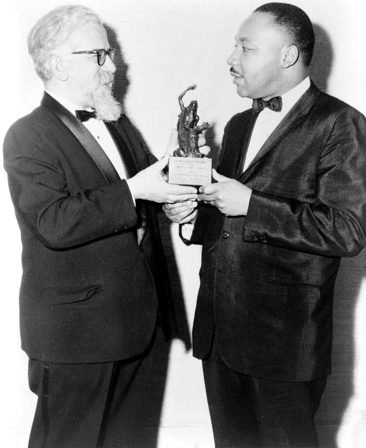Abraham Joshua Heschel et Martin Luther King en 1965