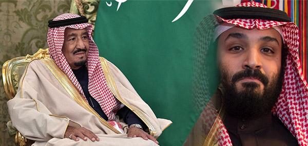 Le Roi Salman d'Arabie Saoudite et son fils, le prince Mohamed ben Salman