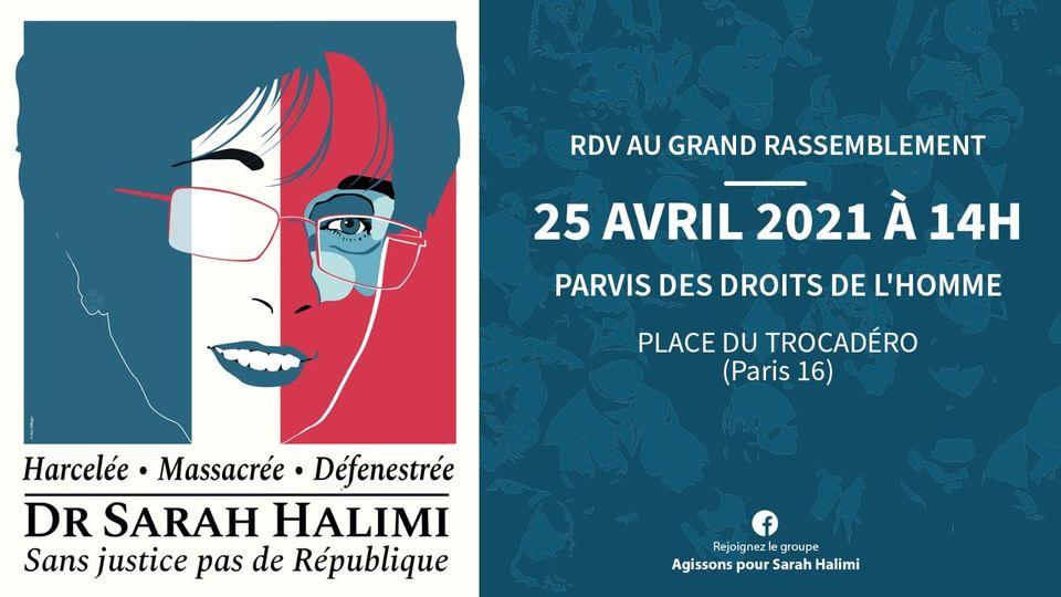 Pour Sarah Halimi, contre le déni de justice : manifestons dimanche 25 avril