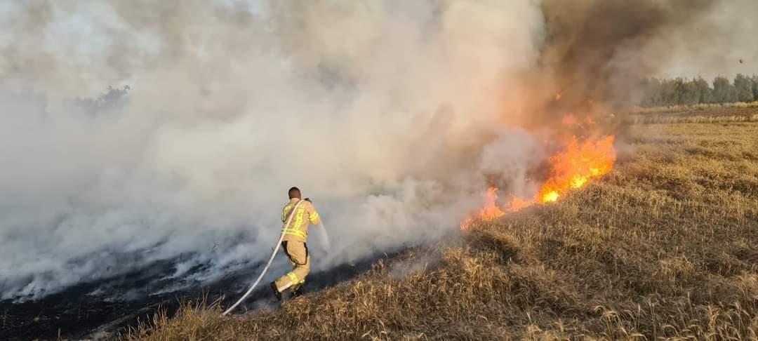 Incendie en Israël près de la bande de Gaza dûs à des ballons incendiaires envoyés depuis la bande de Gaza