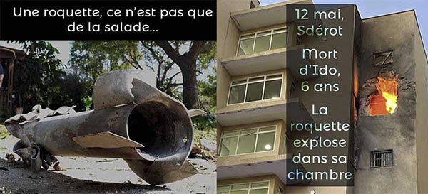 Bombardement de Sdérot 12 mai 2021 mort d'Ido 6 ans