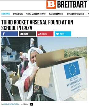 Troisième arsenal de roquettes découvert à Gaza sous une école, 2014