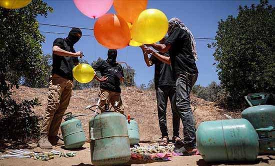 Le Hamas lance en Israël des ballons incendiaires qui provoquent d'importants incendies et dégâts environnementaux
