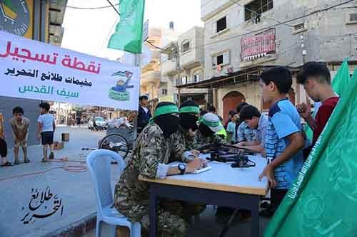 recrutement par le Hamas de jeunes Palestiniens pour les camps d'été militaires