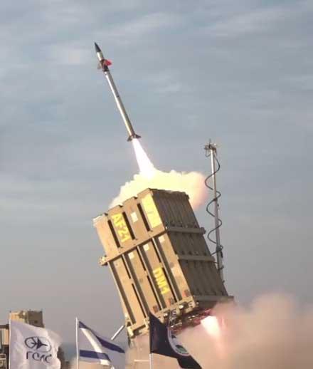 Le dôme de fer, système de défense israélien qui neutralise les roquettes en vol